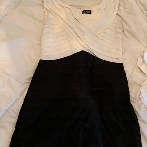 Black/ white formal mini dress